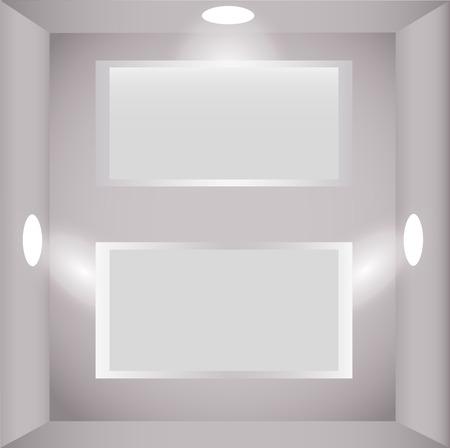 2d wallpaper: Stands illuminated spots of light