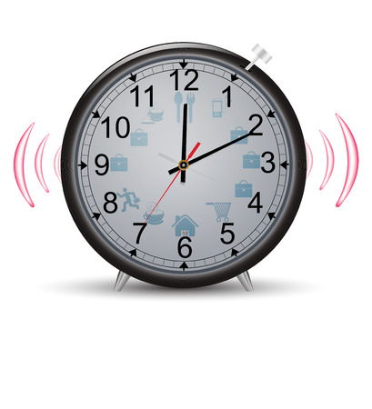 Clock with pointers working day