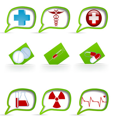 palpitations: Set of medical icons