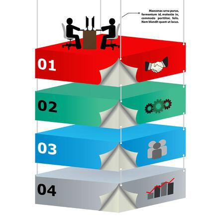 dominance: Plataformas a�reas 3d con los trabajadores de las ideas de negocio