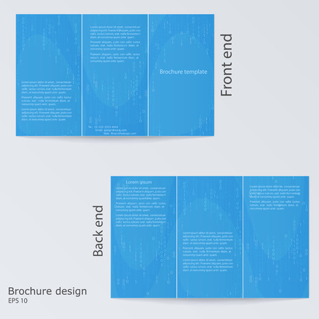 Trifold Brochure Design Brochure Template Design With Blue - Digital brochure templates