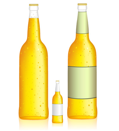 Bottle of beer  Low alcohol beverage  Vector illustration Vector