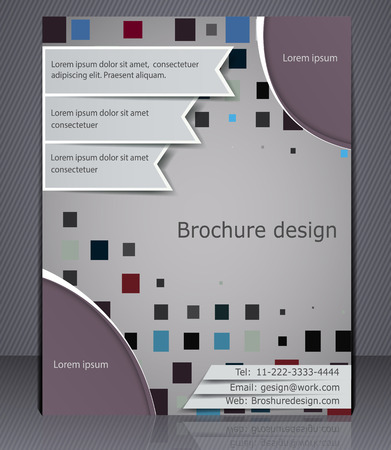 magazine page: Business brochure layout  Abstract template with elements of squares