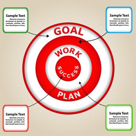 demonstrative: Circle Business concept for success  Presentations, brochure,template, Web design element
