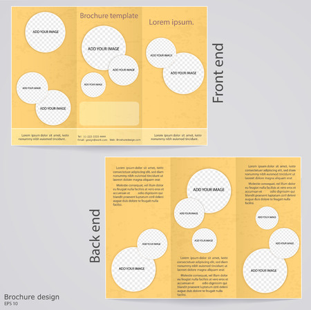 broadside: Layout tri-fold brochures  Cover design with circles to insert images