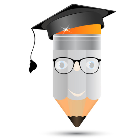graphite: Pencil in glasses  The image of professors, graduate for your ideas