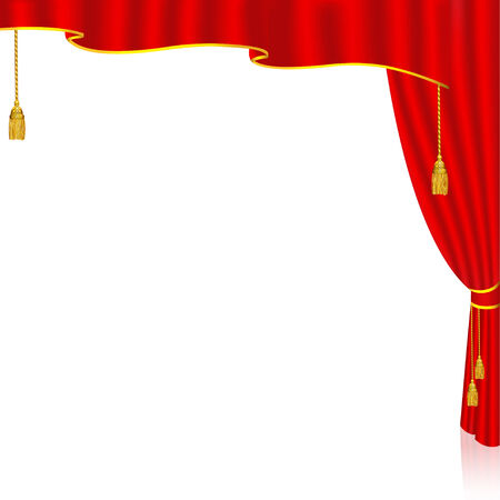 Red Curtain from the right side   Ideal for presentations, brochure, promotional background, greeting