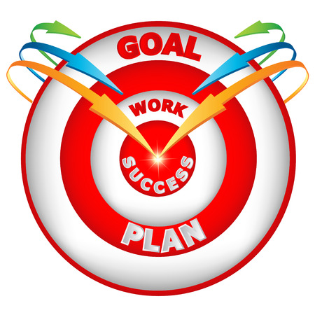demonstrative: Arrows leading to the goal