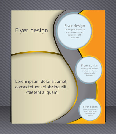 Layout business brochure  Layout flyer, template, or a magazine cover, website template