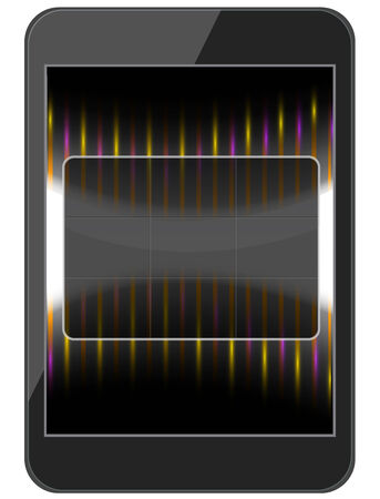 Layout phone with a glass interface Stock Vector - 27420349