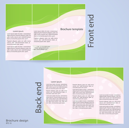 broadside: Layout tri-fold brochures  Cover design with abstract lines