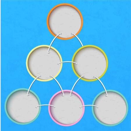 publicidad exterior: Círculos multicolores sobre un fondo azul perfecto para el diseño web, presentaciones, como plantilla, diseño, publicidad
