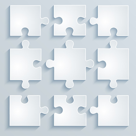 Parts of paper puzzles  Business concept, template, layout,infographics