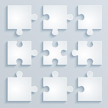 puzzle pieces: Parts of paper puzzles  Business concept, template, layout,infographics