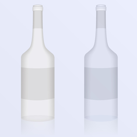 Set of of clean bottles  Vector illustration Vector