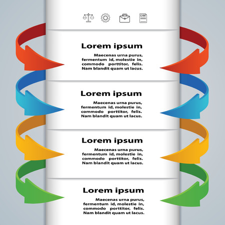 Tabs with arrows for business concepts  Infographics, presentations, template