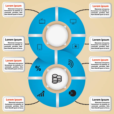 tendance: Vector circle of icons for business ideas  Infographics, pattern, presentation