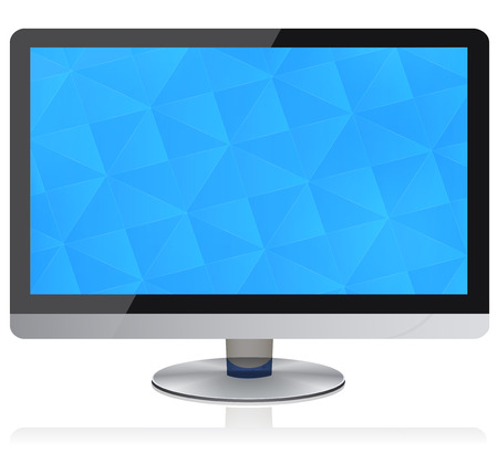 flat panel: Widescreen Flat Panel Monitor with geometric pattern