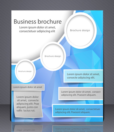 Brochure Design In Blue And Yellow Colors Layout Flyer Template