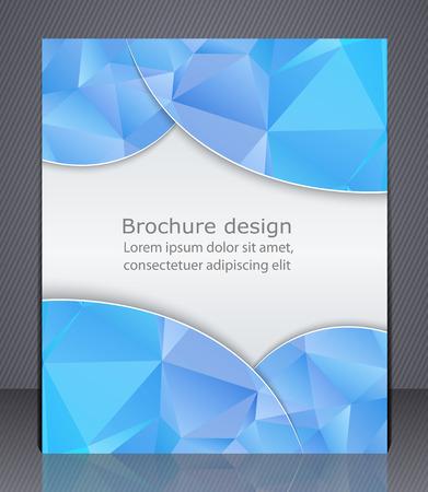presentation folder: Business brochure.   Illustration