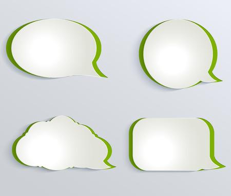 Abstract white paper circles.  Annotation paper bubbles Фото со стока - 27622651