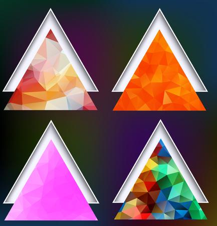 clippings: Polygonal geometric shapes  Illustration