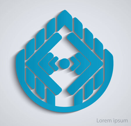 business sign: Abstract geometric business sign Illustration