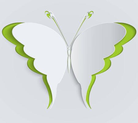green butterfly: Paper butterfly