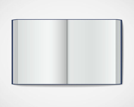hardcover: Blank open book  Magazine hardcover