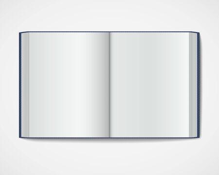 Blank open book  Magazine hardcover