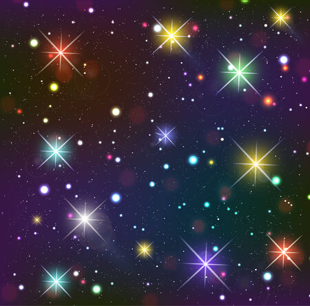 starfield: Starry sky  Dark background with glowing effects