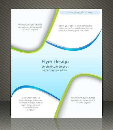 advertisment: Vector layout shop or salon flyer, magazine cover, or corporate design template advertisment