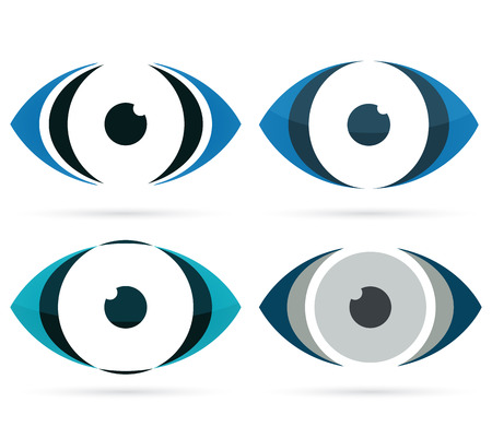 Abstract eye icon Vector