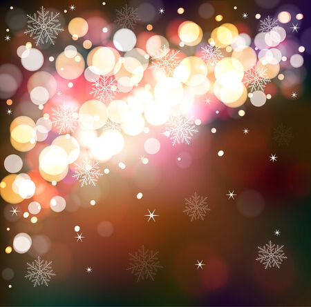 Winter shining background  Magical festive abstract defocused background with snowflakes Illustration