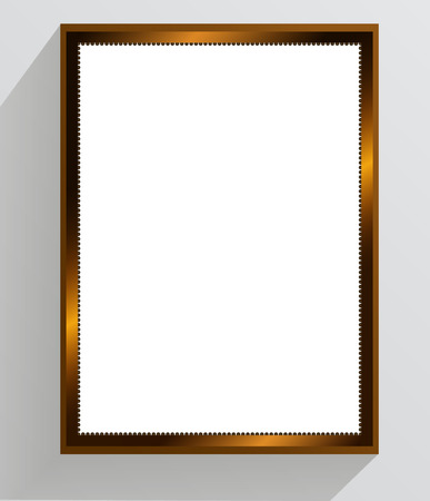 a4: Golden vintage frame on a white background