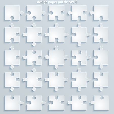 Flat parts puzzles  Paper square Jigsaw Puzzle Templates