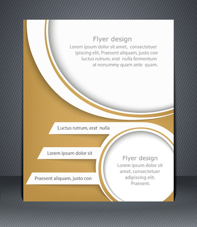 Layout flyer, business brochure or flyer template Vector