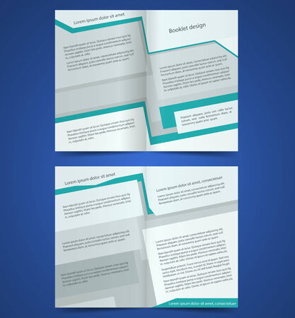 Vector  brochure template design with gray elements. Vector