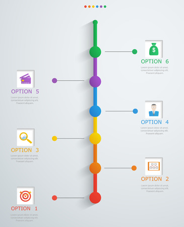 show time: Timeline, infographics template with stepwise structure Illustration
