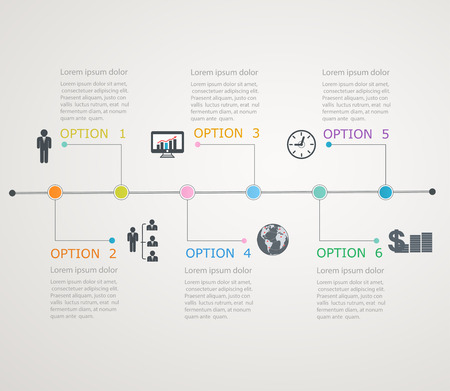 time line: Timeline, infographics template with stepwise structure Illustration
