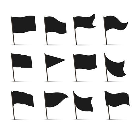 블랙 플래그 아이콘 일러스트