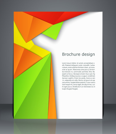 catalogs: Geometric design brochures magazine cover, flyer, or poster