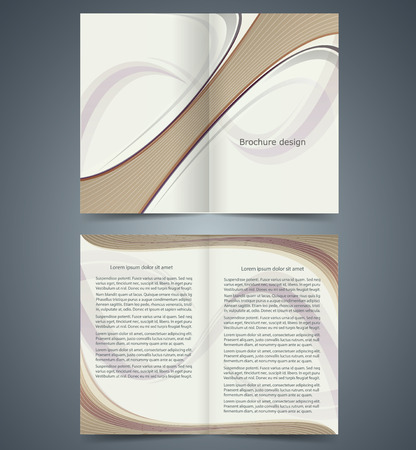 booklet template design  with strips, layout business brochure or catalog, flyer template