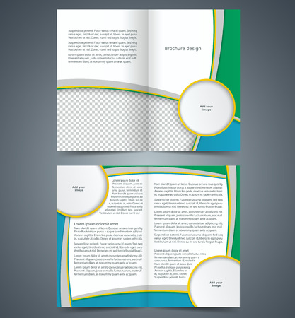 Booklet template, design with stripes, layout business brochure, flyer template Stock Vector - 28059675