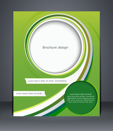 reference book: Green design brochure, magazine cover, flyer, or poster