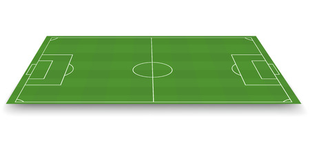 Soccer field, side view Vector