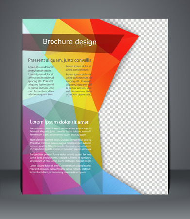 Geometric design brochures magazine cover, flyer, or poster