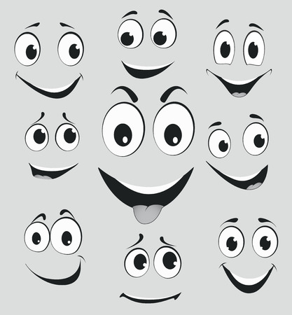 facial expressions: Facial expressions, cartoon face emotions