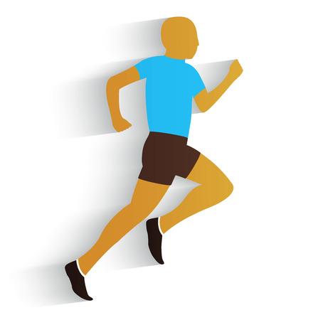 jogging track: Running Man on a white background Illustration
