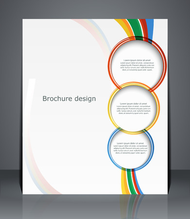 pamphlet: Flyer design, template, or a magazine cover with stripes   Vector Illustration